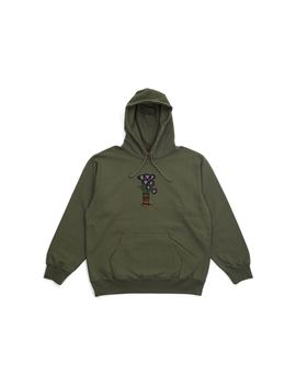 Supreme Flowers Hooded Sweatshirt Light Olive by Stock X