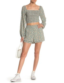 Floral Layered Pull On Shorts by Emory Park