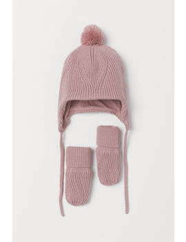 Cotton Hat And Mittens by H&M