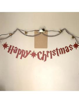Happy Christmas Banner  56 Inch Wide   6 Inch Letters   Harry Potter   England by Etsy
