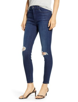 7 For All Mankind Destroyed Knee Ankle Skinny Jeans by 7 For All Mankind®
