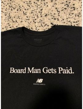 Authentic Kawhi Leonard New Balance Board Man Gets Paid Black Shirt Size 2 Xl by New Balance