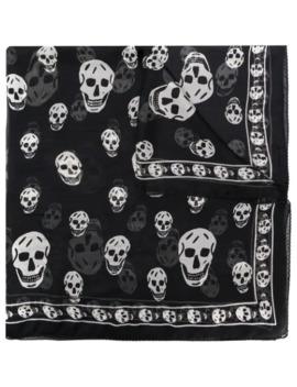 Skull Motif Scarf by Alexander Mc Queen