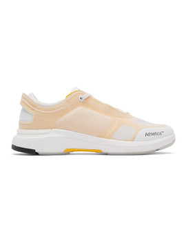 White & Yellow One Sneakers by Athletics Footwear