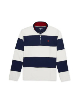 Men's Izod Fleece Quarter Zip Rugby Pullover by Izod