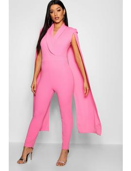 Cape Lepel Collar Jumpsuit by Boohoo