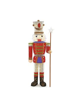 Toasty Tinsel 5 Ft. Pre Lit Tinsel Nutcracker Soldier by Home Accents Holiday