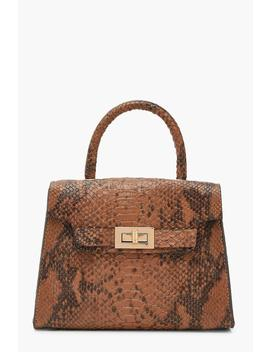 Snake Small Tote Bag by Boohoo