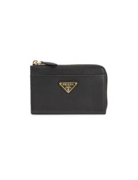 Saffiano Leather Coin Case by Prada