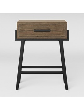 Corinna Angle Leg Side Table Wood   Threshold™ by Threshold