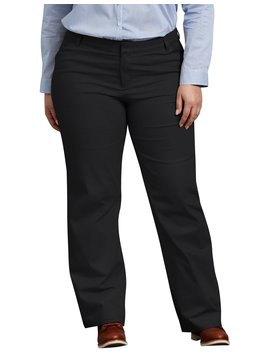 Women's Relaxed Fit Straight Leg Stretch Twill Pants (Plus) by Dickies