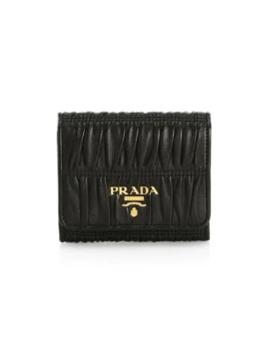 Small Saffiano Leather Tab Wallet by Prada