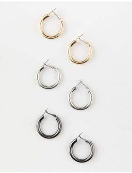 Full Tilt Trio Chunky Hoop Earrings by Full Tilt