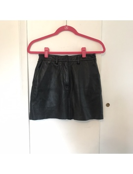 🖤 Authentic Leather Mini Skirt 🖤  True Mini With by Depop