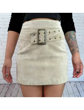 High Rise Leather Mini Skirt With Belt Attached 😍😍 by Depop