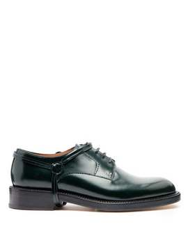 Stirrup Effect Leather Derby Shoes by Lanvin