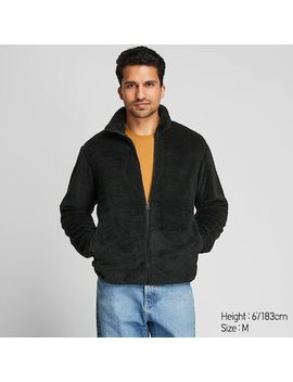 Men Fluffy Fleece Zipped Jacket (54) by Uniqlo