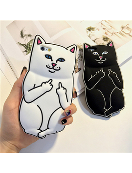 Kisscase 3 D Pocket Cat Silicone Phone Case For I Phone 7 6 6s 8 Plus Cute Cartoon Cases For I Phone 5s Se X 10 Funny Cover Shells by Ali Express.Com