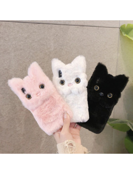 Winter Warm Plush Phone Case For I Phone Xs Max Xr X 11 Pro Max Cute Cat Furry Fluffy Fur Cover For I Phone 6 6 S 7 8 Plus Cases by Ali Express.Com