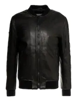 Leather Flight Bomber   Kurtka Skórzana by Superdry