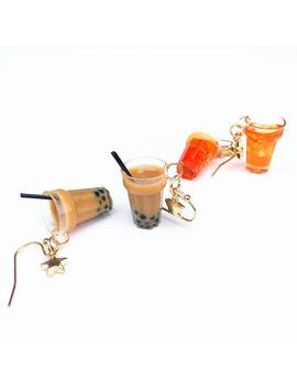 """Bubble Tea"" Earrings by Aesthentials"
