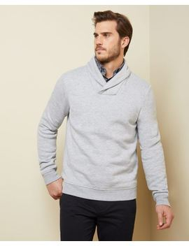 Fleece Shawl Collar Sweater by Rw & Co