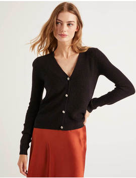 Maggie Jewelled Cardigan   Black by Boden