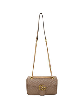 Pink Small Gg Marmont 2.0 Shoulder Bag by Gucci