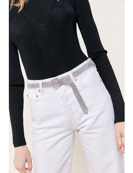 Thin Rhinestone Belt by Urban Outfitters