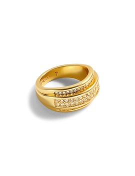 Chunky Gold And Pavé Ring by J.Crew