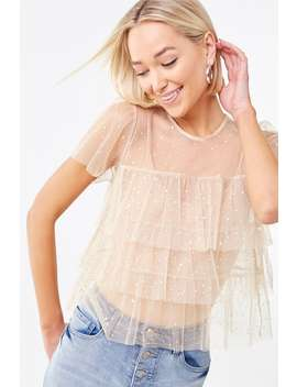 Tulle Sequin Top by Forever 21