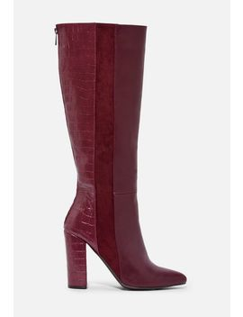 Veran Color Blocked Heeled Boot by Justfab