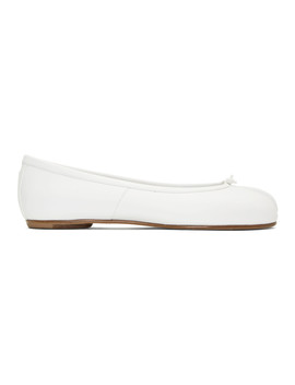 White Tabi Ballerina Flats by Maison Margiela