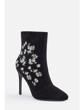 Out West Embroidered Stiletto Boot by Justfab