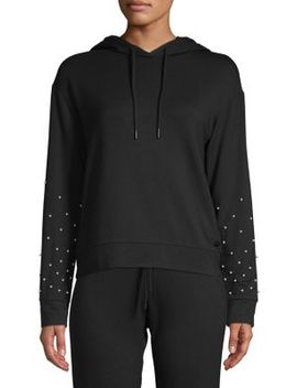 Faux Pearl Embellished Hoodie by Marc New York Performance