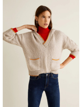 Pull Over Maille Capuche by Mango