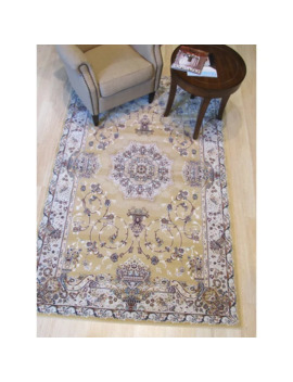 "Gold Traditional Oriental Tabriz Rug   7'10"" X 9'10"" by Eorc"