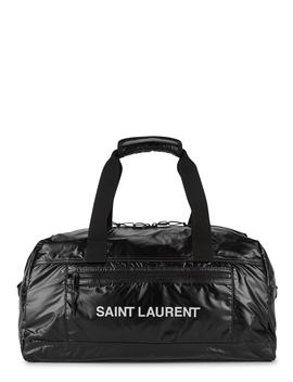 Nuxx Black Logo Nylon Holdall by Saint Laurent
