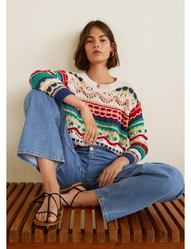 Pull Over Multicolore Texturé by Mango