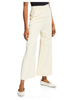 Rosetta Getty High Rise Wide Leg Trousers by Rosetta Getty