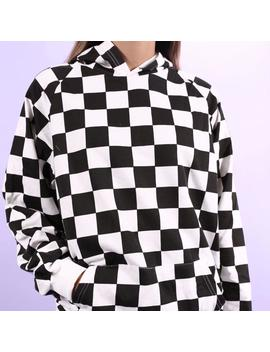 """Checkered"" Hoodie by Aesthentials"