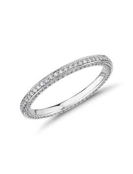 The Gallery Collection™ Trio Micropave Diamond Eternity Ring In Platinum (5/8 Ct. Tw.) by Blue Nile