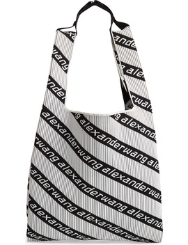 Logo Knit Jacquard Shopper by Alexander Wang