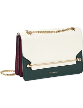 East/West Tricolor Leather Crossbody Bag by Strathberry