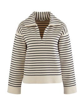 Cotton Marin Vareuse Sweatshirt by Celine
