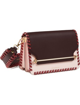 East/West Whipstitch Leather Crossbody Bag by Strathberry