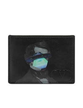 Valentino X Undercover V Face Ufo Leather Card Holder by End.