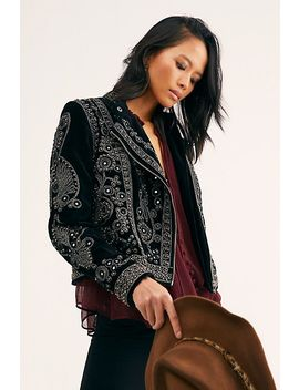 Snake Charmer Moto Jacket by Free People
