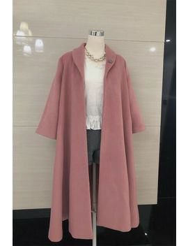 Woolen Pink Overcoat Inspired By The Marvelous Mrs. Maisel by Ebay Seller