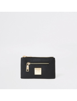 Black Snake Embossed Mini Zip Pouch by River Island